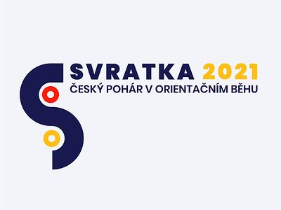 Logo for a sport event czechia illustrator river orienteering sport branding logo