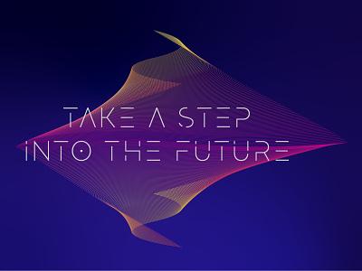 Take a step into the future social media gradient future campaign facebook illustration graphic design