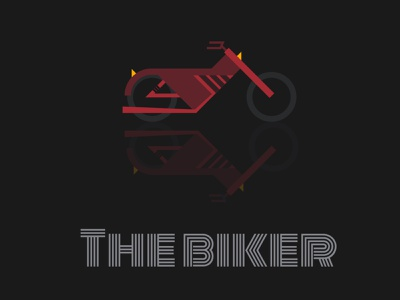 THE BIKER branding graphic  design shapes visualidentity visualstyle simple illustration bike motorbike