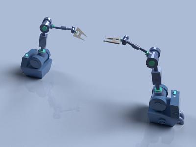 3D factory robot machinery machine 3d modeling graphic design cyber business 3ddesign factory automotive robot 3d