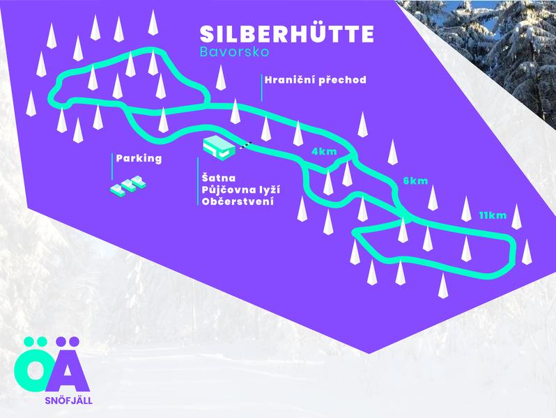 Nordic ski track illustrated maps branding graphic  design nordic ski ski