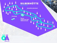 Nordic ski track illustrated