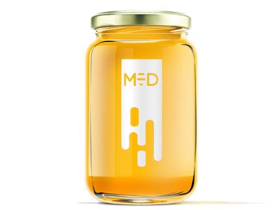 Honey minimalistic label design minimalism honey label design