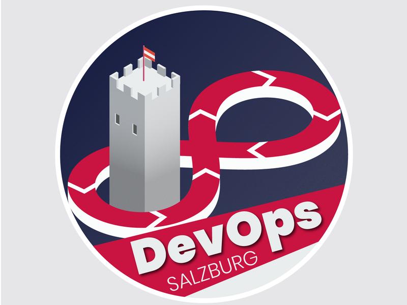 DevOps meetup Salzburg logo branding graphic  design socialmedia salzburg isometry freelance design logo illustration meetup devops