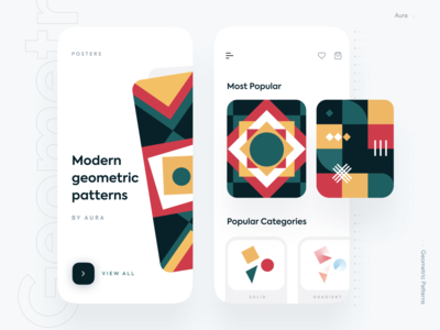 Geometric Pattern Collection ecommerce app modern aura mobile app mobile ui pattern design pattern pattern art illustration minimal ios