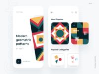 Geometric Pattern Collection ecommerce app modern aura mobile app mobile ui pattern design pattern pattern art illustration minimal ios