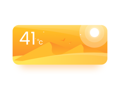 Weather Card #02 hot sunny winter weather ux ui mobile card app