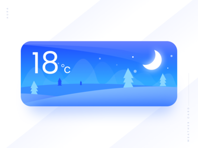 Weather Card #04 winter weather violet ui simple cold cloudy card blue app