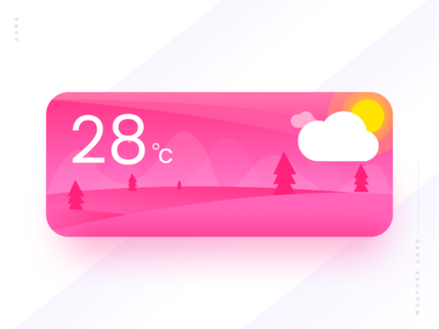Weather Card #06 card ui weather