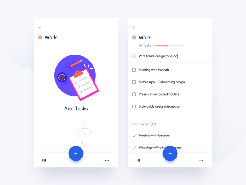Tasks layout minimal illusration emptystate task list task ios mobile app mobileapp ux ui