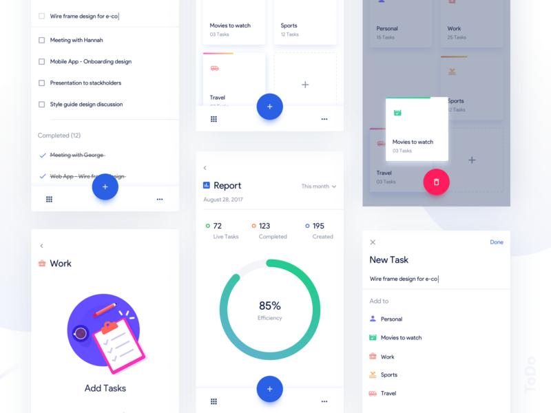 Tasks App by Aura on Dribbble