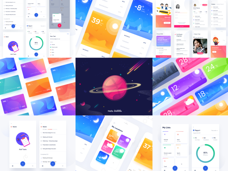 Best Of 2018 : Aura todo app learning app weather dribbble hello best ui 2018 new year ui