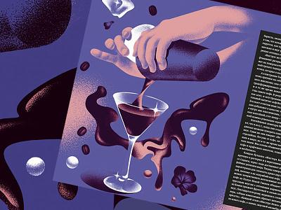 Editorial Illustrations for Standart Magazine editorial illustration magazine coffeeshop coffe cocktail food illustration
