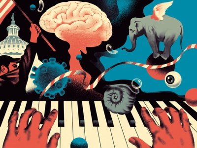 How Your Brain Creates Reality (2) capitol symbol political science reality brain design magazine russia illustration