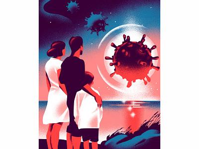 Illustration for zetland illustrator pandemic covid health future design vintage russia illustration