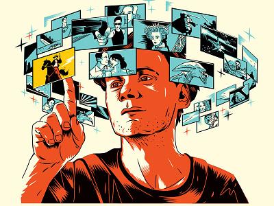 Illustration for «The Hollywood Reporter» magazine cinema illustration digital film