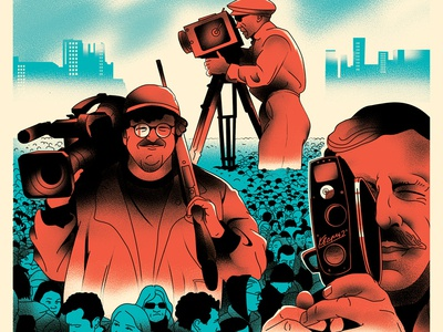 Editorial illustrations for KinoReporter