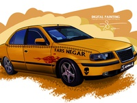Taxi Digital Paint