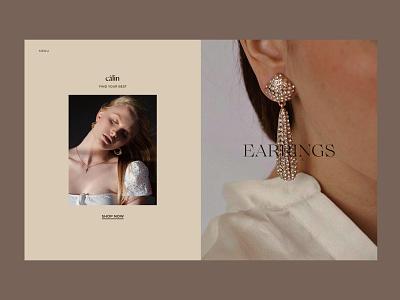 Câlin Jewelry accessories online store minimal consept typography website interface web design ui ux