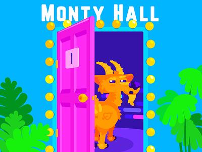 Monty Hall monster math vector art design flat artist illustrator illustration art character illustration