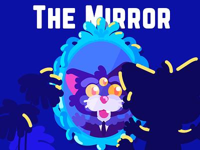 The Mirror mirror cat monster cute art flat design artist character illustration art illustrator illustration