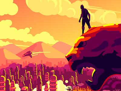 Black Panther designer creative sam design art film marvel black panther illustrator character artist illustration illustration art