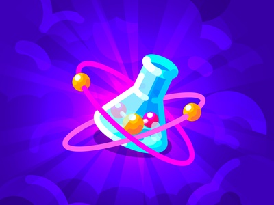 Physics & Chemistry chemistry physics art flat artist vector illustrator illustration art character illustration design