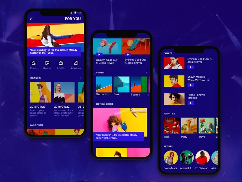 Music Mix App sketch ux ui ui pack music app music 2019 design