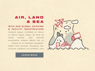Air Land & Sea Content Block