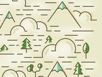 Mountain cloud pattern