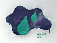 Please Rain Illustration