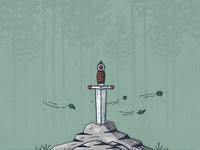 Textured Excalibur Illustration
