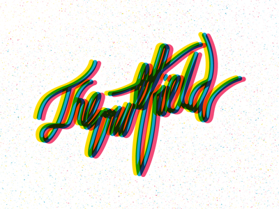 The Outfield hand lettering the outfield graphic design typography music cmyk design illustration
