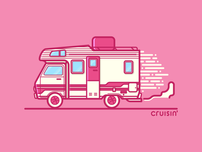 Cruisin' lines vector typography illustrator illustration cruisin rv dribbble debut graphic design