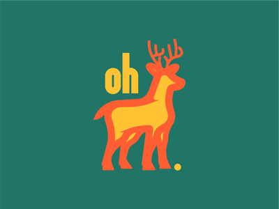 Oh Deer. pun deer character vector lines illustrator hand lettering typography illustration design graphic design