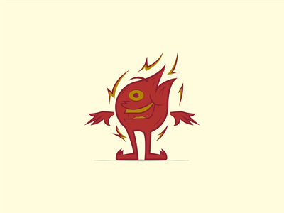 Fire Guy fire character vector lines illustrator illustration design graphic design