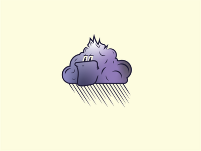 Grumpy Cloud grumpy cloud character vector lines illustrator illustration design graphic design