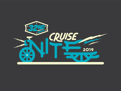 Cruise Nite car logo branding illustration typography hand lettering typography vector lines illustrator illustration design graphic design