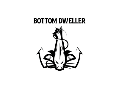Bottom Dweller anchor logo design typogaphy logo branding vector illustrator illustration design graphic design