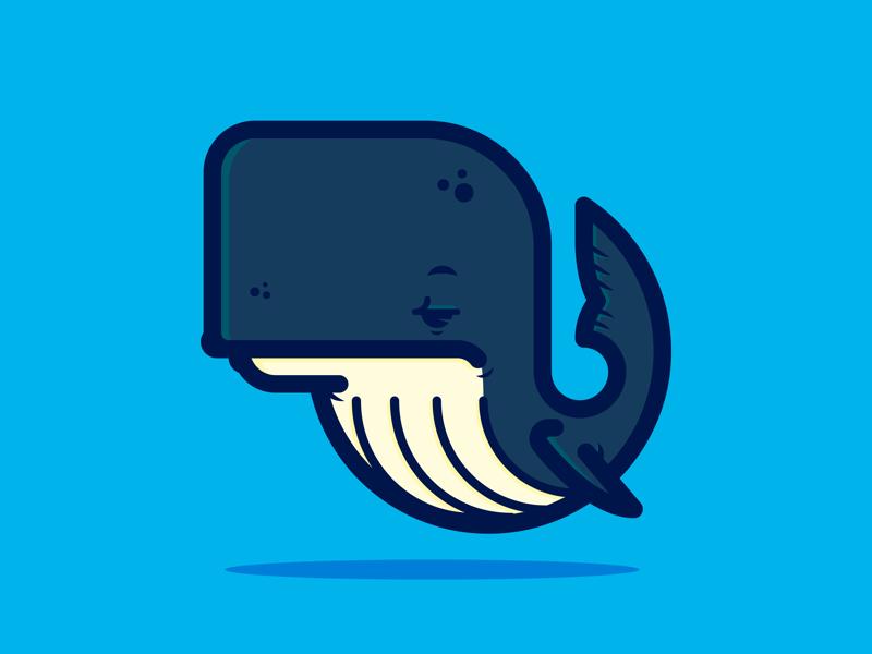 Whale branding lines illustrator illustration vector whale graphic design