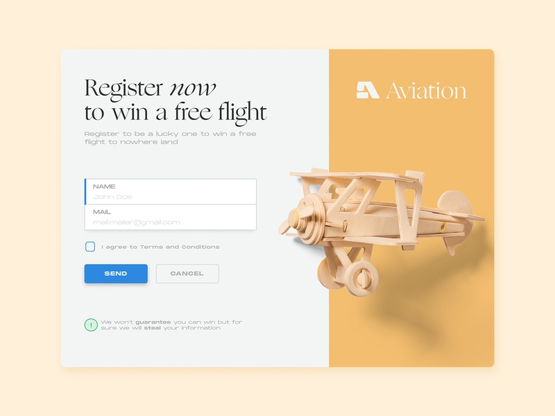 Daily Ui Challenge 01 flat web design modal box registration form practise aviation ui  ux uidesign typography monument extended ogg dailyui 001 dailyui modal