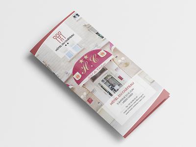 "Print and branding for "" Hôtel du château "" identité designer logo ident brand design graphic print"