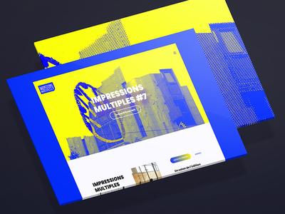 Website for IM#7 Festival graphisme work content brand internet website art graphic design web