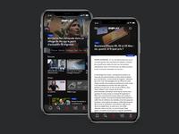 UI/UX Design for video app