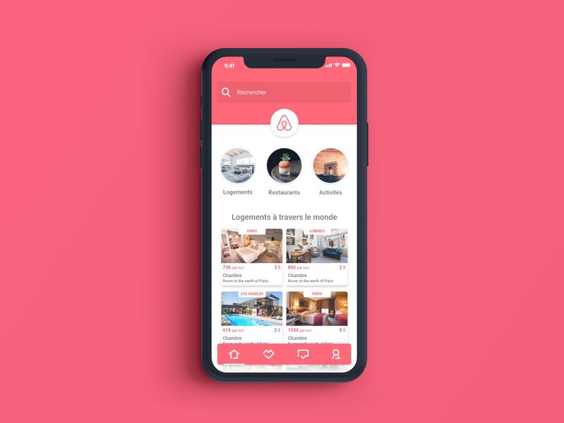 UI / UX design for Airbnb app uidesign brand work airbnb web iphone x iphone ios interace app design app apps application app concept app ux graphisme branding graphic design graphic design ui