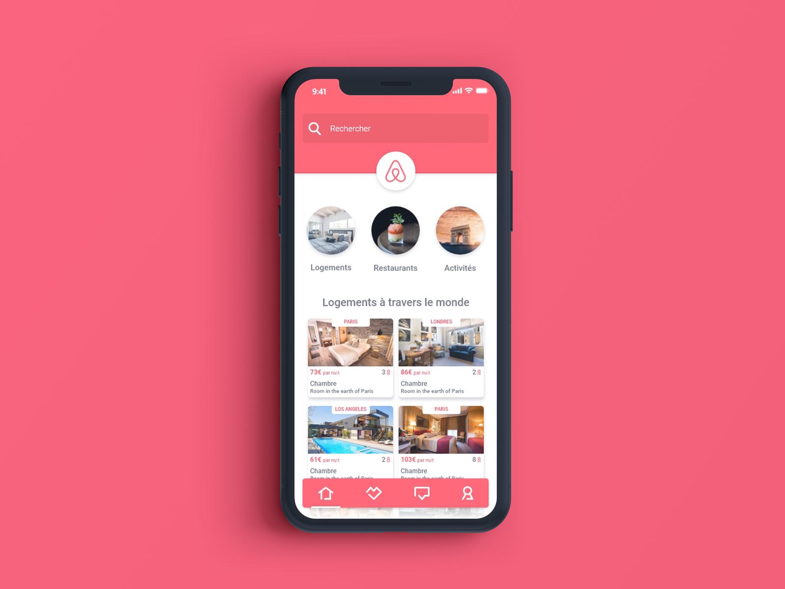 Ui Ux Design For Airbnb App By Cyprien Mellet Dribbble Dribbble