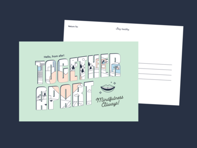 Postcard Art for Toothpaste Brand