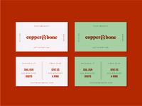 Copper & Bone Business Card Concept