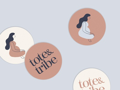 Tote and Tribe 2 pregnant tribe tote bag tote woman custom type icon drawing typography logo design illustration branding