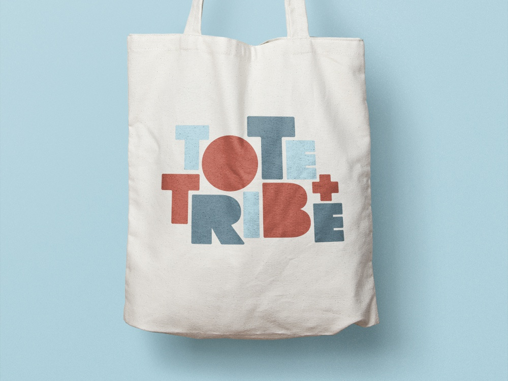 Tote and Tribe (unchosen) tote tribe custom type typography logo design branding